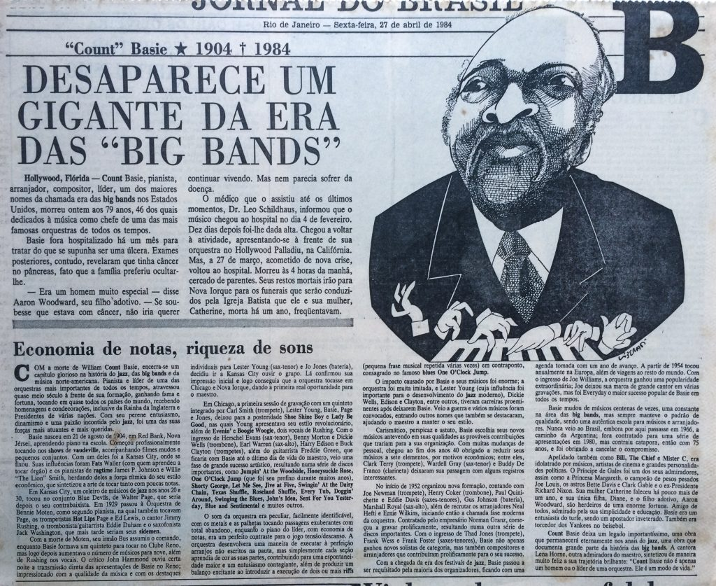 Obituário Count Basie
