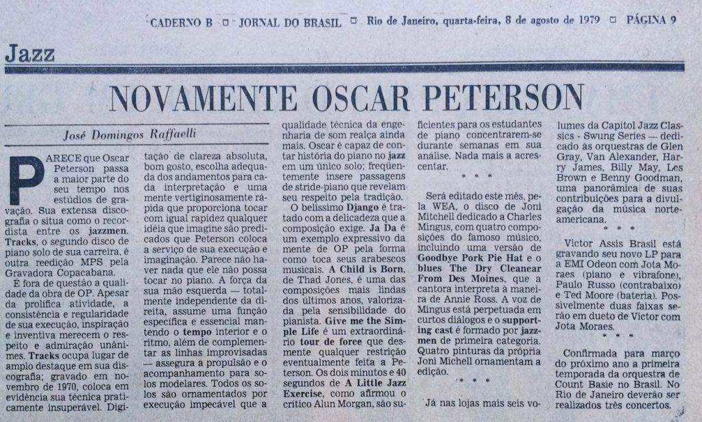 Noivamente, Oscar peterson